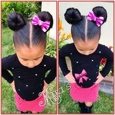 Minnie Mouse ears hair style for little girls