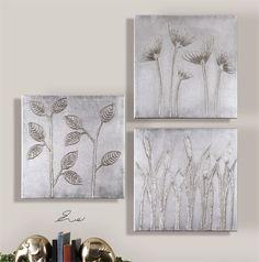 Uttermost Sterling Trio Canvas Art Set/3