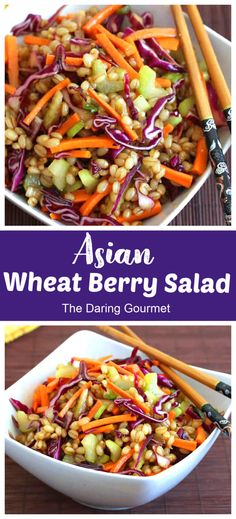 Wheat Berry Salad, Wheat Berry Recipes, Healthy Salad Recipes, Gourmet Recipes, Cooking Recipes, Soup Recipes, Vegetarian Cabbage, Vegetarian Soup, Side Dish Recipes