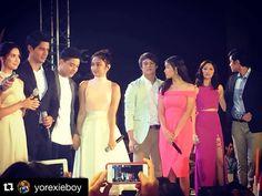 """#Repost @yorexieboy with @repostapp. ・・・ The ABS-CBN ❤️ teams. #AdSummitPilipinas2016 #panalokakapamilya #Kathniel #lizquen #kimxi #Danrich  #LizaSoberano…"""