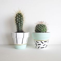 Hand Painted Plant Pot - Mint via This Way To The Circus. Click on the image to see more!