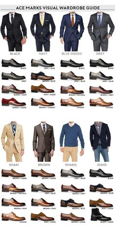 Do You Know which 4 Pairs of Mens Dress Shoe Styles You SHOULD Have in Your Closet? - Men Dress Shoe - Ideas of Men Dress Shoe - Mens Dress Shoe Styles Visual look inforgraphic Mens Style Guide, Men Style Tips, Business Casual Men, Men Casual, Business Suits Men, Mens Business Professional, Mode Costume, Modern Gentleman, Gentleman Style
