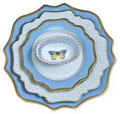 Anna's Palette Sky Blue Dinnerware   Gracious Style