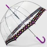 ShedRain Bubble Umbrellas - Clear Dot Border