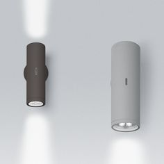 CALUMET Wall Lighting system with single or double emission, with high-performance LED light sources combined with lenses which optimize the light emitting efficiency of the beams and determine their spread.