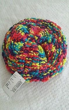 Baby girls size 6-12 months rainbow knit beret brand new with tags Stretch