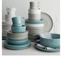 Crate & Barrel plates. These are the colors I want for my kitchen