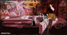 Who needs a Pink Cadillac when You can have a Pink Impala? Location: Vixen's Creative Studios Photographer & Model: Michaela Vixen Set Design & Creation: Michaela Vixen Vixen's Log - More Info & Credits Here