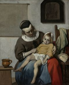 The sick child by Gabriël Metsu, c.1664- c.1666. Rijksmuseum, Public Domain
