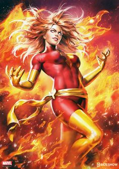 Jean Grey, Dark Phoenix Sideshow Print - Ian MacDonald / X-Men / Marvel Comics