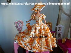 Vestido dA Bela e a Fera em Crochê Para Bonecas com Passo a Passo de Pecunia MillioM 3