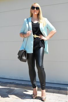 The MIAMI Rose   Chic in Black & Baby Blue