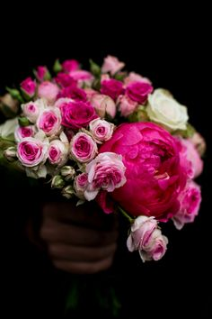 peonies and pink roses. #florals #bouquet #stilllife