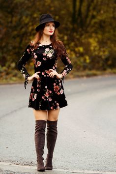 You searched for Over the knee boots - Page 2 of 5 - Joli House Sexy Outfits, Dress Outfits, Fall Outfits, Fashion Outfits, Cochella Outfits, Velvet Skater Dress, Floral Skater Dress, Fall Dresses, Casual Dresses
