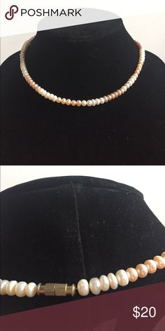 Pearl Necklace Unmarked. No idea what type of pearls/stones they are. 17 inches long Jewelry Necklaces