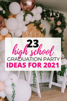 i love these high school graduation party ideas!! im graduating soon and really want my party to be memorable so im definitely copying these