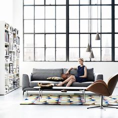 Loft inspiration 🖤 #boconcept #loft #apartment #boconceptwarszawa #boconceptwarsaw #inspiration #beautiful #homedecor #livingroom