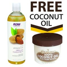 NOW Foods Sweet Almond Oil  16 oz  FREE 100 Cococare Coconut Oil  4 fl oz *** Click on the image for additional details.