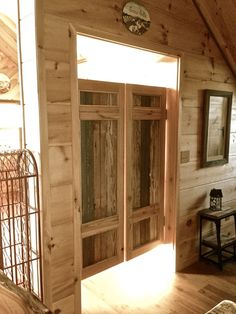 Tracy Lochridge used these saloon style swinging doors from Southern Accents in her apartment kitchen.