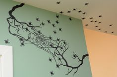 Halloween Decor Ideas: Silhouettes And Shadows >> http://www.hgtvgardens.com/halloween/make-frightening-garden-silhouettes-for-halloween?soc=pinterest&s=10