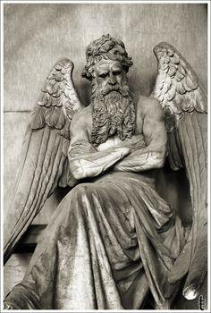 Cimitero Monumentale di Staglieno, Genova; me--not all angels look like weeping women