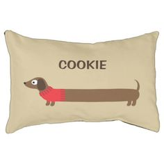 Cute Long Dachshund Illustration Pet Bed - dog puppy dogs doggy pup hound love pet best friend