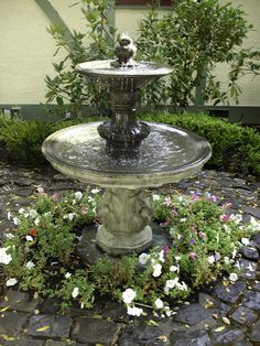 fountain garden pictures | Exalted Fountains | Lighting Garden Fountains