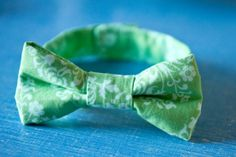 make bow ties for little boys or dog collars!