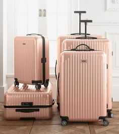 f2c59179e6b The most gorgeous pale pink luggage -- Rimowa North America Salsa Air Pearl  Rose Cabin Multiwheel