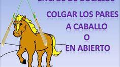 Encaje de bolillos: Como colgar los pares a caballo o en abierto