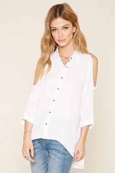 Contemporary Open-Shoulder Top | Forever 21 - 2000205713