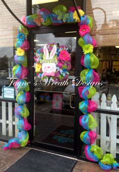 Spring/ Easter Garland and Bunny Wreath