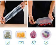 EcoInnova™ Silicone Reusable Lids (6 pcs./set) – ECOINNOVA Things I Need To Buy, Plastic Wrap, Activity Days, Reusable Bags, Diy Hacks, Food Grade, Household Items, Safe Food, Biodegradable Products