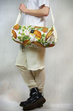 Tasche mit Pilzprint,eine herbstliche Umhängetasche / shoulder bag with mushroom print by Goes to M via DaWanda.com