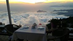 It's the restaurant at the top of the world: on Babadag Mountain, where paragliders jump down to Oludeniz below.