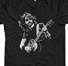 Foo Fighters Dave Grohl Retro Vintage Mens Tshirt