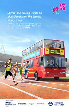 Olympic Posters (London 2012) Get Ahead of the Games by Daniel Lambert, via Behance