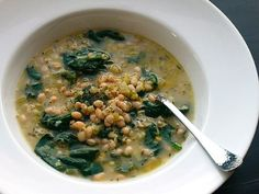 Low Fat, Vegan White Bean and Spinach Soup Recipe