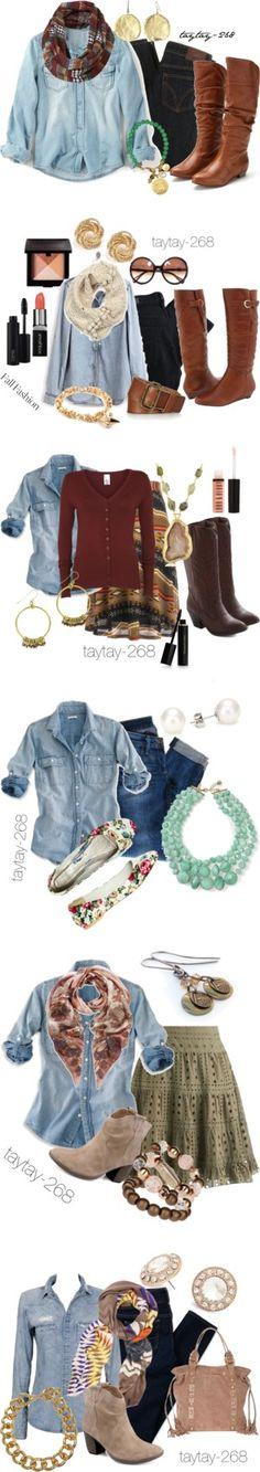 """""""Denim Shirts"""" by taytay-268 on Polyvore"""