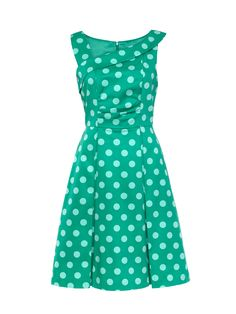 Midori Spot Dress | Tropical Green | Dresses