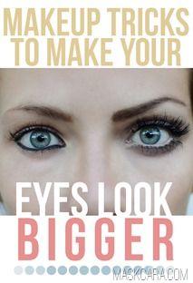 Truques para aumentar os olhos com a maquiagem