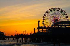 Santa Monica Pier @ sunset.
