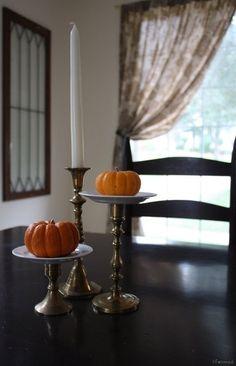 Halloween Decoration Ideas: DIY Fall Centerpiece from Goodwill