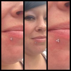 Lip piercing with one of the new Trinity ends from NeoMetal ❤️