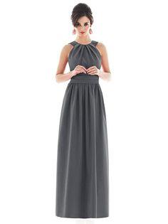 Alfred Sung D495 Long Halter Pockets http://www.dessy.com/dresses/bridesmaid/d495/