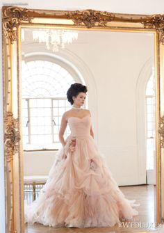 Amazing pink wedding dress more