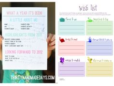 I love these free organizing printables!
