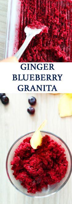 summer desserts | blueberry recipes | easy recipes | easy summer recipes | frozen treats | easy frozen recipes | granita | ginger recipes