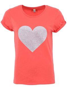 Koralové dámske tričko ZOOT Originál Strieborné srdce V Neck, Tops, Women, Fashion, Moda, Fashion Styles, Fashion Illustrations, Woman