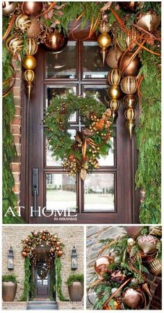 """The """"if money were no object front door decor"""" for Christmas!  wow!"""
